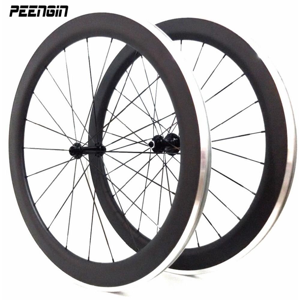 Carbon fiber rim 700c clincher 50mm carbon road//track bike rims 25mm premium rim