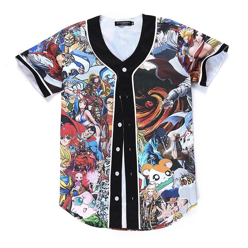b5d665c0743 Anime carácter imprimir t-shirt hombres boy casual 3d camiseta marca Camiseta  Hombre skateboard gráfico camiseta para hombres camisetas hombre