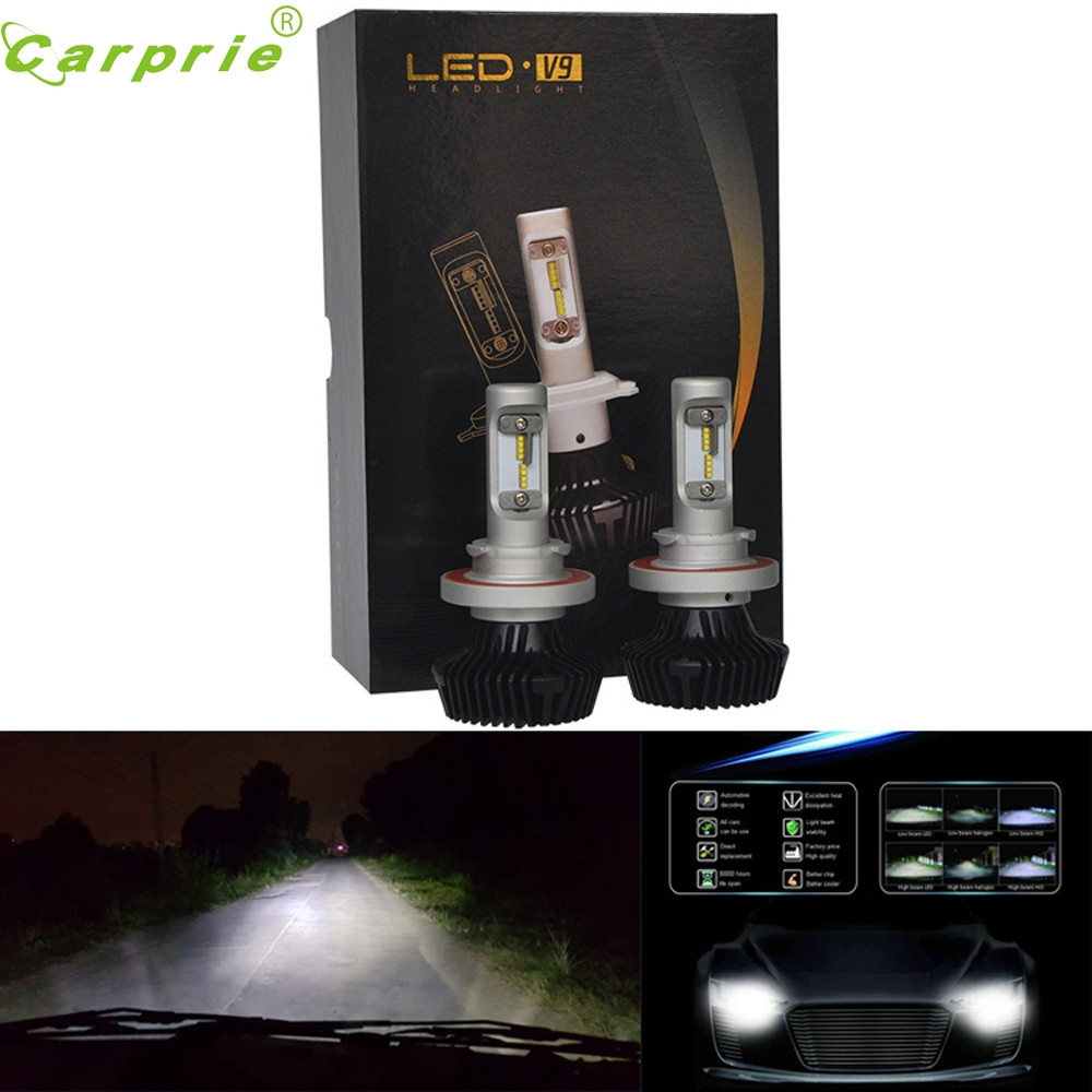ФОТО Tiptop New Hot Sale 2PC for Philips LED Chips 60W 12000LM 9008/H13 Headlight Kit H/L Beam Bulbs 6500K NOV8