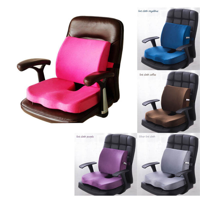 Car Seat Cushion Mat Coccyx Orthopedic Memory Foam Chair Massage Mat Back Cushion Pad Office Nap Therapy Callipygian Cushion
