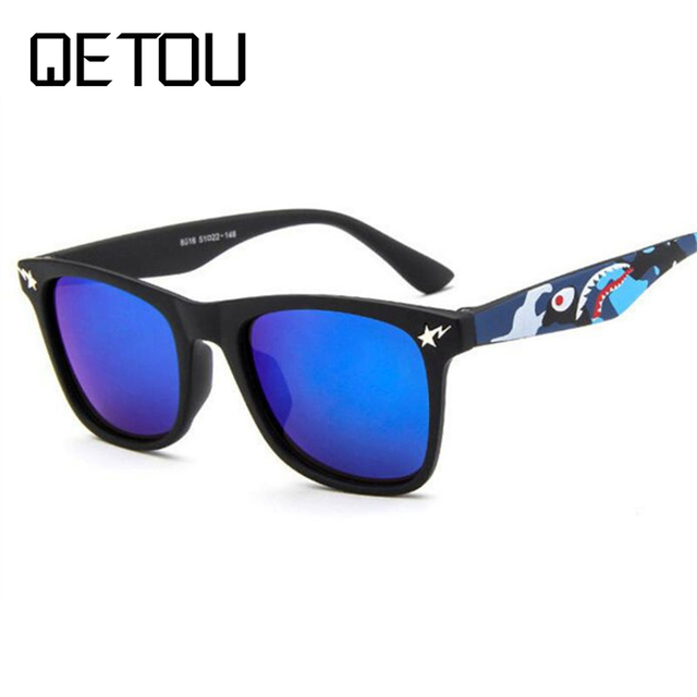 QETOU Children Pra Sunglasses square Frame Girls Boys Brand Designer Sun Glasses For kids child UV400 oculos infantil de sol