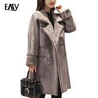 Vrouw Parka Winter Jasje 2017 Fashion Koreaanse Suède Bovenkleding Voor vrouwen Grote Siz 2XL Roze Winter Jacket Vrouwen Jas XL