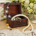 New Fashion Wood Handmade Jewelry Box Storage Organizer Jewelry Bracelet Pearl Metal Lock Jewelry Case For Women Gift