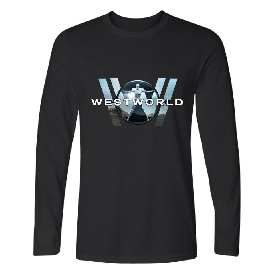 WESTWORLD Fashion Long Sleeve T Shirts West World T-shirt Men Hip Hop And Cotton Shirt Plus Size Summer Tee Shirts XXS 4XL