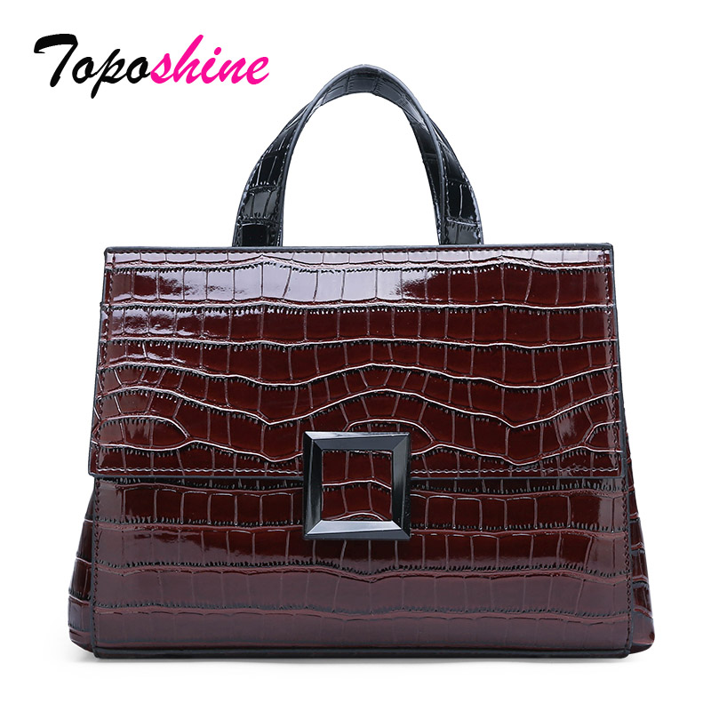 Ladies Handbag Messenger-Bag Stone-Pattern Shoulder High-Quality New-Fashion Elegant