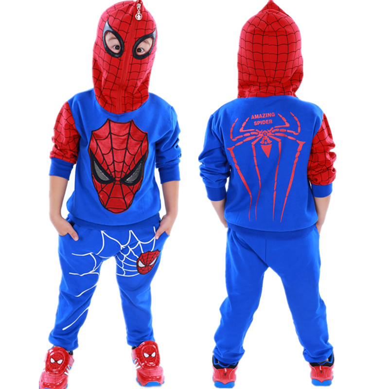 Spiderman Children Boys Clothing set Baby Boy Spider man Sports Suits 3-7 Years Kids 2pcs Sets Spring Autumn Clothes Tracksuits spiderman children boys suits clothing baby boy spider man sports set 3 12 years kids 2pcs sets spring autumn clothes tracksuits