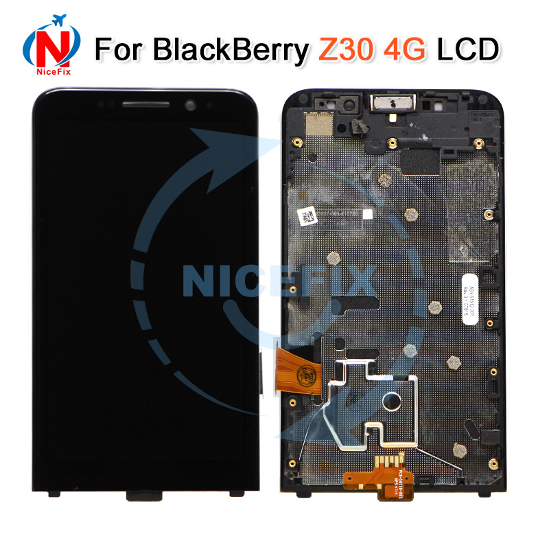 For Blackberry Z30 4G LCD Display With Touch Screen Digitizer Assembly With Frame Replacement Parts For