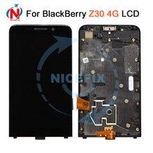 Blackberry için Z30 4G LCD ekran Ile dokunmatik ekranlı sayısallaştırıcı grup Çerçeve Ile Yedek Parçalar BlackBerry Z30 LCD