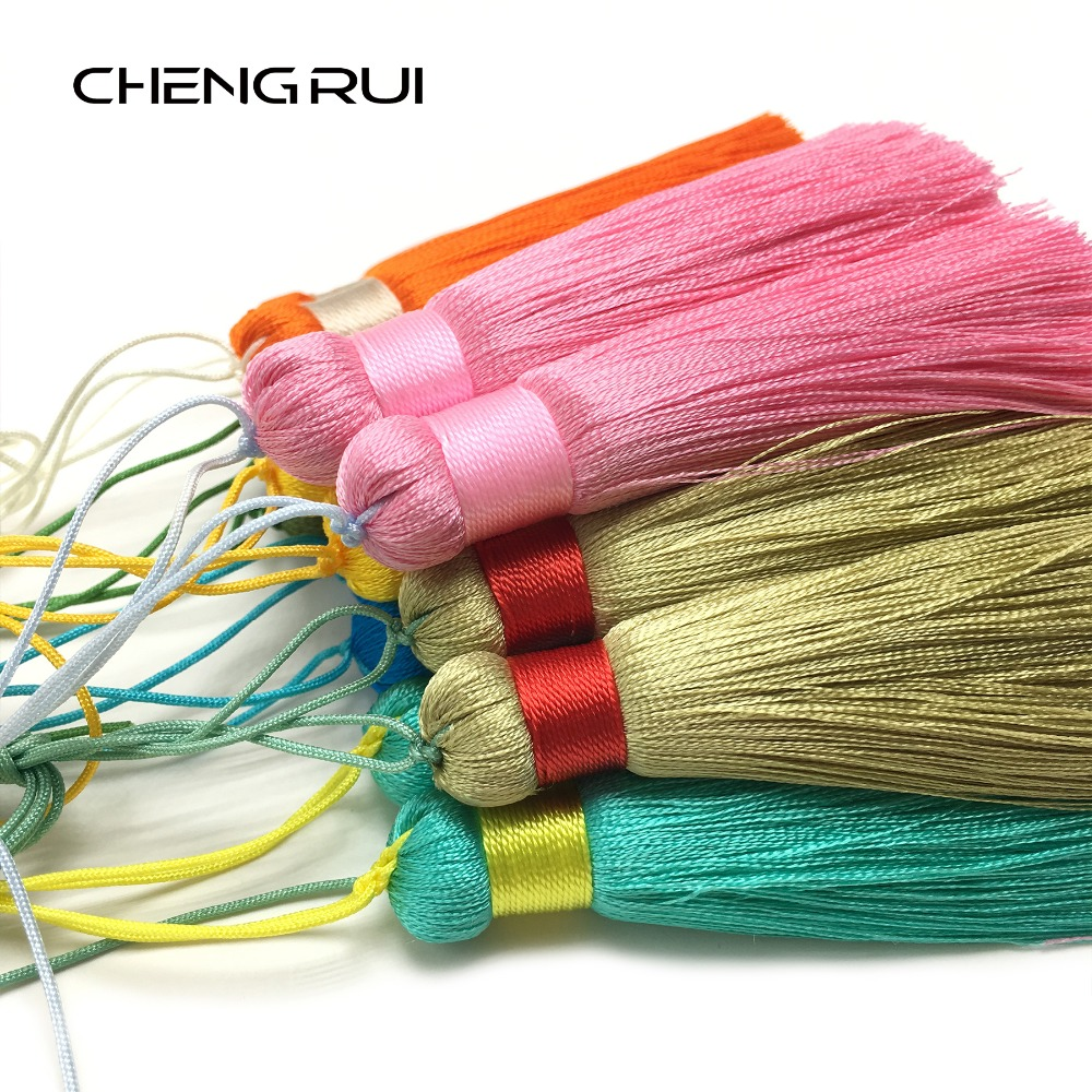 CHENGRUI L96,7CM,tassel,fringe,silk tassels,tassels for curtains,fringe silk,fringe for curtain,fringes for sewing,2pcs/bag