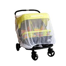 Baby Mosquito Mesh Insect Bug Netting Buggy Cover for Twin/Double Jogging,Tandem Strollers, Prams, Bassinet and Car Seats