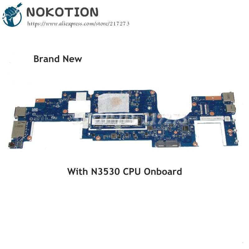 NOKOTION Brand New AIUU1 NM-A201 MAIN BOARD For Lenovo Yoga 2 11 Laptop Motherboard SR1W2 N3530 CPU Onboard nokotion brand new cn 0y3pxh 0y3pxh for dell inspiron 15 3531 laptop motherboard zbw00 la b481p sr1w2 n3530 cpu onboard ddr3