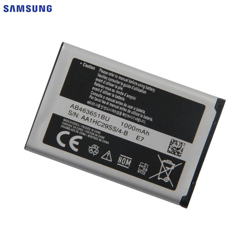 SAMSUNG Bateria Original AB463651BU Para Samsung W559 S5620I S5630C S5560C C3370 C3200 C3518 J808 F339 S5296 C3322 GT-C3530 S5610