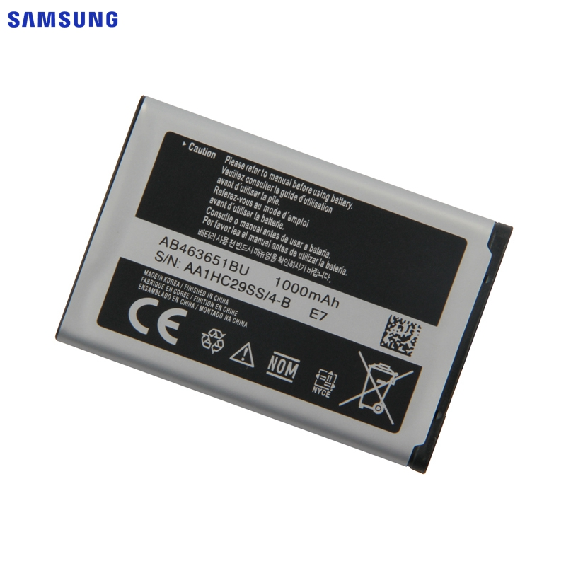 SAMSUNG Original Battery AB463651BC AB463651BE AB463651BU For Samsung W559 S5620 S5630C C3200 F339 S5296 C3322 GT-C3530 GT-S5610