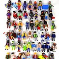 10pcs 3cm Playmobil figures toys set 2016 New Playmobil police pirate princess horse house action figurines lot gifts for kids