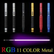 11 цветов световой меч металлический меч RGB лазерный Косплей мальчик игрушечный меч световой детский подарок свет открытый творческий войны игрушечная палочка сабля