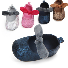 цена на Infant Baby Boy Girl Shoes Butterfly-knot PU Soft Sole Casual Leather Baby Shoes First Walkers Crib Shoes Wholesale