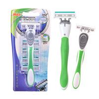 1 Handle And 5 Heads   Razor   Blade High Quality Beard Shaving   Razor   With Replacement Cartridge