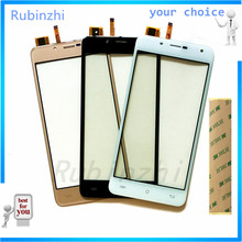 RUBINZHI Phone Touch Screen Digitizer Panel Front Glass For Cubot Rainbow 2 Touchscreen Sensor Repair Free Shipping+Tape new 7 inch touch screen digitizer glass sensor panel for 3q surf rc0722c free shipping