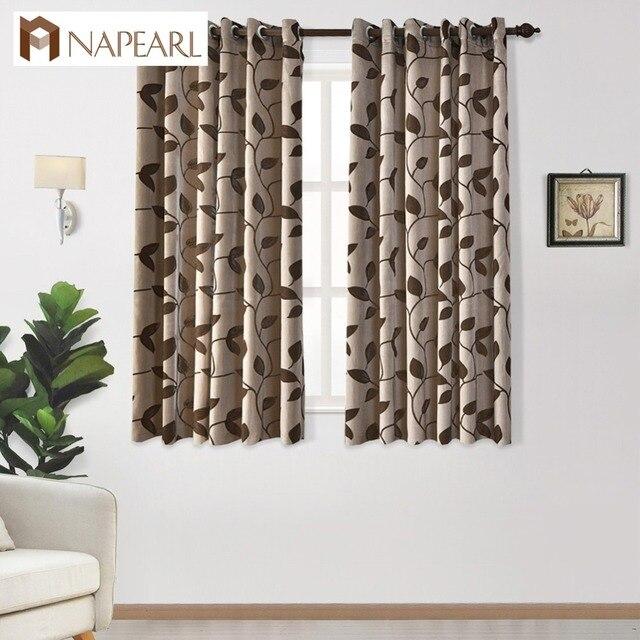 Cortinas de diseño de hojas cortas para dormitorio ventana cocina ...