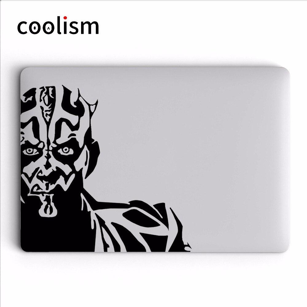 Darth Maul Cool Vinyl Decal Laptop Sticker for MacBook Air Pro Retina Mac 11 12 13 15 inch Mac Surface HP Mi Notebook Skin
