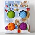 Кэндис го! новые прибытие красочные различных вен мячи детские игрушки сенсорный ловить мягкий BB мяч 4 шт./компл.