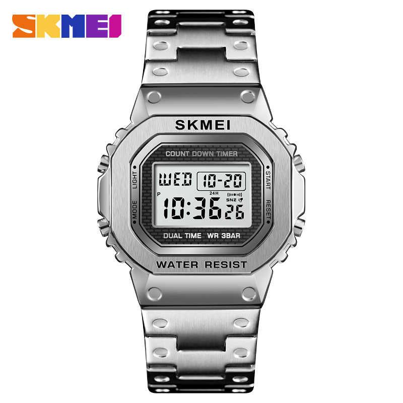 Chronograf odliczanie cyfrowy zegarek dla mężczyzn moda Outdoor sportowy zegarek męski zegarek budzik wodoodporny Top marka SKMEI