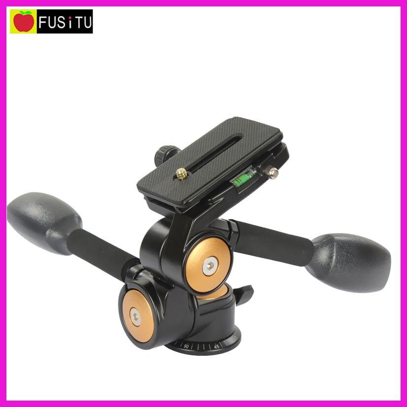 QZSD Q80 joby Deux Poignée En Trois Dimensions Tête Avec QR Plate Trépied Caméra Photo