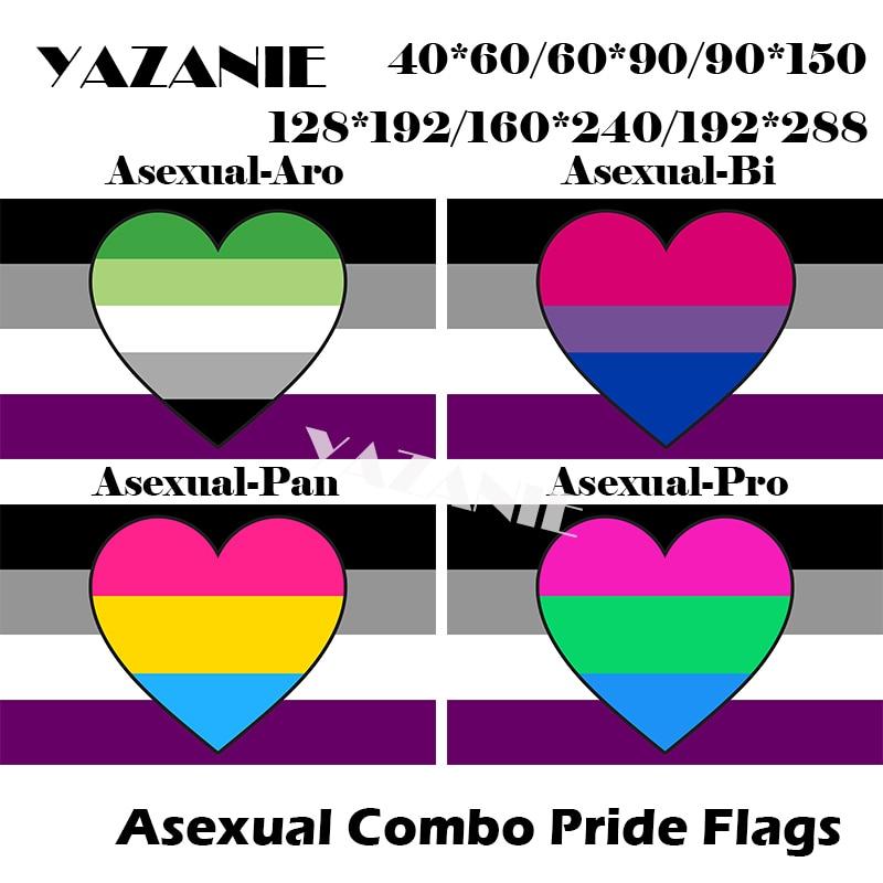 YAZANIE 128*192 см/160*240 см/192*288 СМ Радужный Флаг ЛГБТ бесполые Aromantic Би любвеобильного Polysexuality (надпись «Rainbow» и машинка ручной комбинированный гордо...