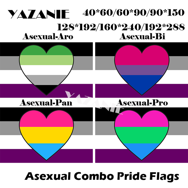 Asexual aromantic pride flag