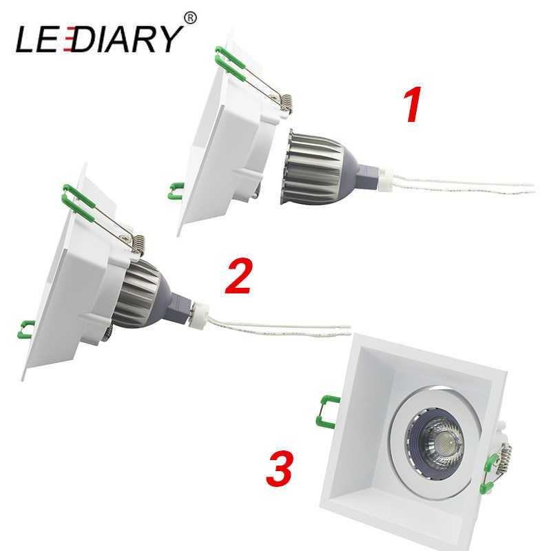 Светодиодный IARY светодиодный спот крепление светильника рамка 90-260 V встраиваемый светильник 75 мм 90 мм выреза Лампы Сменные MR16 GU5.3/GU10/E27 розетки