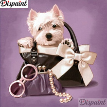 Dispaint Full Square/Round Drill 5D DIY Diamond Painting Dog bag scenery 3D Embroidery Cross Stitch 5D Home Decor A12299 dispaint full square round drill 5d diy diamond painting dog cup scenery 3d embroidery cross stitch 5d home decor a12299