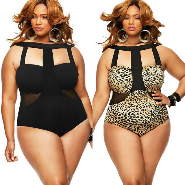 04db77ff751 Women Plus Size Bikini Bandage One Piece Monokini Swimwear Swimsuit L XL XXL  XXXL-in Body Suits from Sports   Entertainment on Aliexpress.com