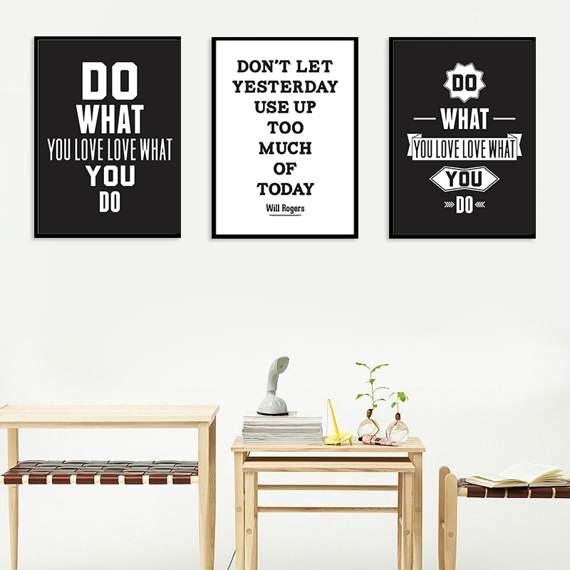 Minimalist nursery canvas painting black white poster printing cartoon art popular wall pictures children's room home decoration