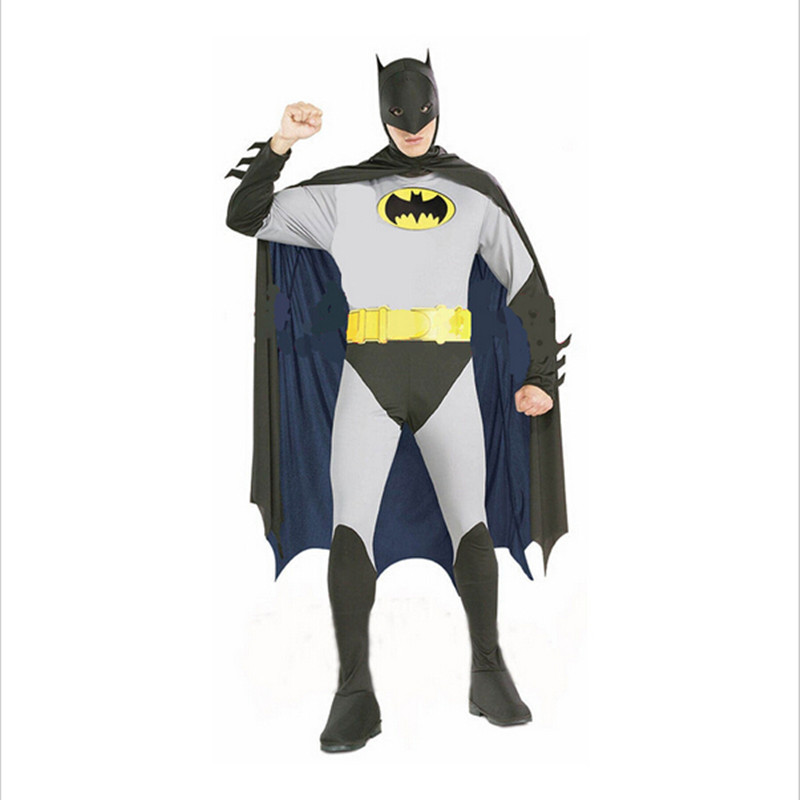 Hot Selling Superhero Adults Costumes Batman Costumes Cool Mens Cosplay Dresses Party Dresses Or Adults Halloween XX001