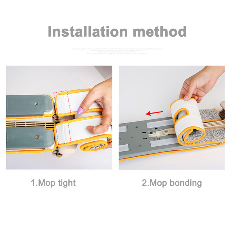 Double Sided Mop Self Wringing Flat 360 Spin Lazy Mop Floor Cleaning Hardwood Floor Kitchen UD88 image