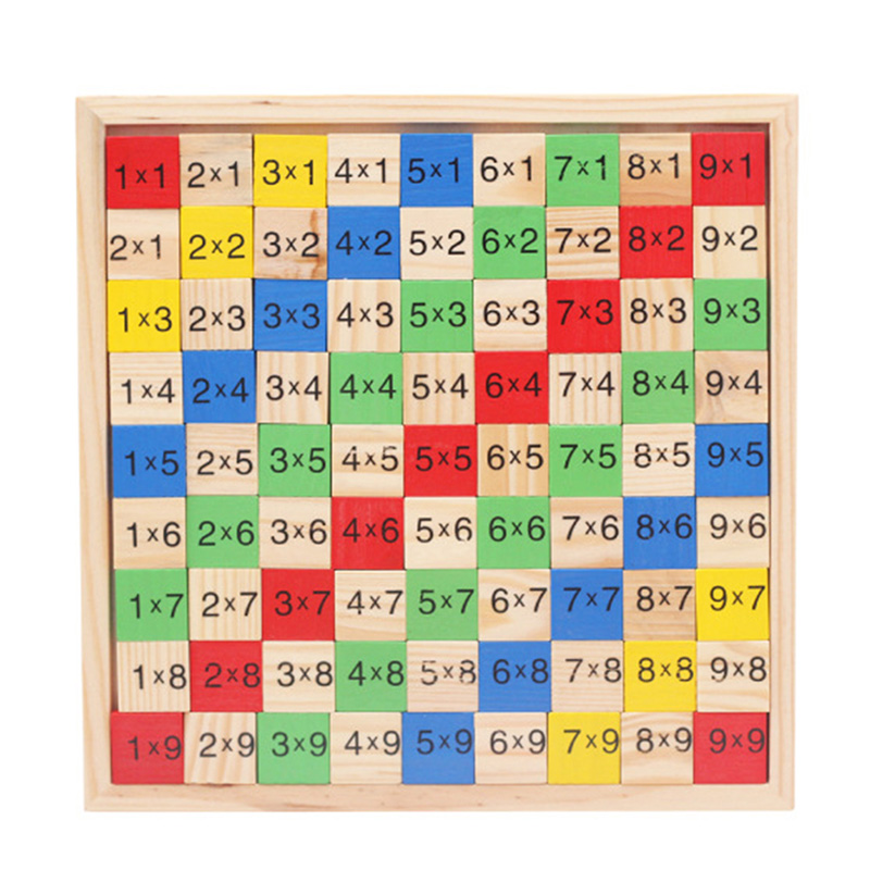Wooden Times Tables Multiplication Double Side Math Mathematics Educational Toy W15