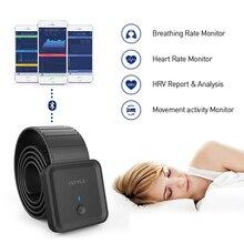 Smart Bluetooth sleep monitor heart rate respiratory monitoring Super Sensitive Chest Strap Pressure Sensor with App