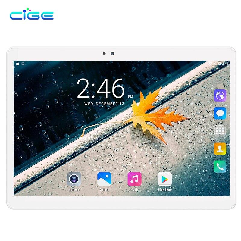 CIGE Newest 2.5D Screen Tablet PC 10.1 inch Ocat Core 4GB RAM 32GB 64GB ROM Dual SIM Card Android 7.0 Smart tablets PCs 10 newest 10 1 inch 2 5d glass screen tablet pc octa core android 7 0 call ram 4gb rom 32gb 64gb tablets pcs smart phone pad gift