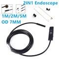 7mm 2EN1 USB Endoscopio 1 M/2 M/5 M 6 LED Inspección OTG Android Video Foto Cámara de captura para el Moblie Teléfonos Ordenador portátil