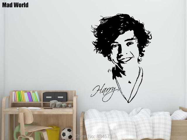 Mad World ONE DIRECTION 1D Celebrity Wall Art Stickers Wall Decal ...