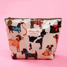 2019 New Creative Makeup Bags With Cute Dog And Cat Pattern Cosmetics Pouch For Travel Ladies Pocket Women Wash Bag Waterproof(China)