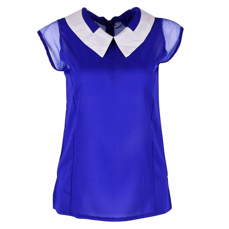 HTB17IfWKXXXXXbSXFXXq6xXFXXXa - Women Summer Loose Chiffon OL Blouse Shirt
