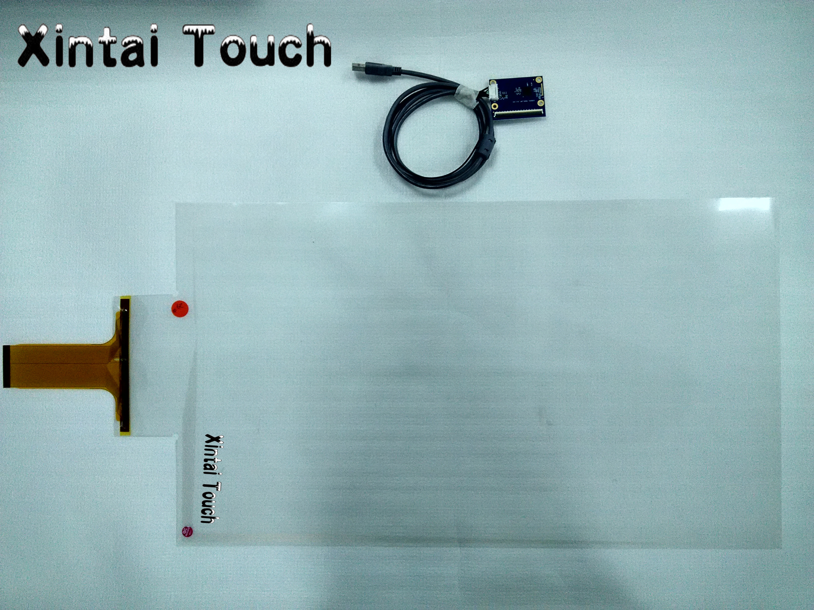 Free Shipping! 1 pcs 24 Truly 10 points Transparent Capacitive touch foil film and 1 pcs Android TV Box himabm 1 pcs 100