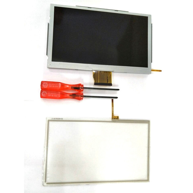 Replacement Game Accessories Touch Screen Digitizer with Tools Glass LCD Screen Fit For Nintendo Wii U Gamepad repair parts
