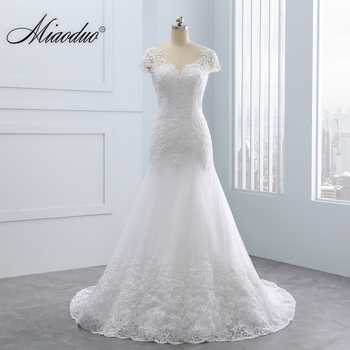 2019 Vestido de noiva Short Lace Backless Wedding Dresses Mermaid Appliques Pearls Wedding Gown Custom Size Wedding Dress - DISCOUNT ITEM  35% OFF All Category