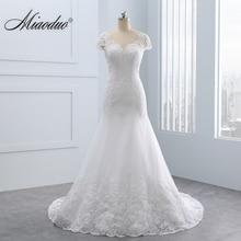 2020 Vestidos de noiva Kurze Backless Spitze Brautkleider Meerjungfrau Appliques Perlen Weiß Hochzeit Kleider Plus Größe Hochzeit Kleid