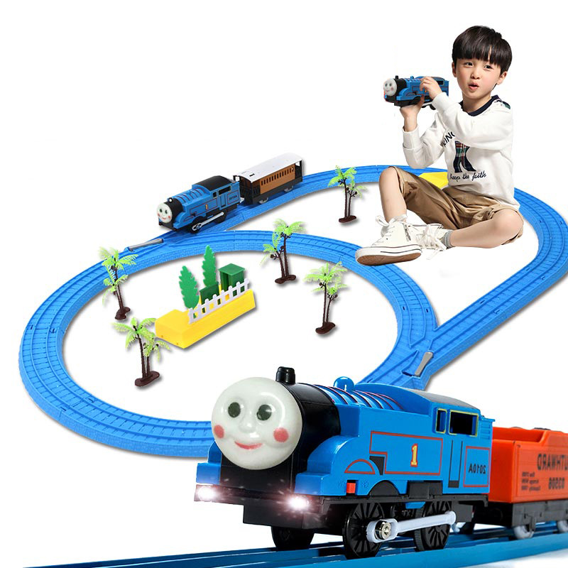 Thomas Small Train Model Sets Rail Truck Electric Toy Vehicles Children Diecasts Toy Trains with Railway Chirstmas Gift Box Sets