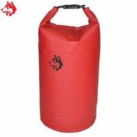 Yiwu Factory Sale 30L Outdoor River Trekking Bag Camping Hiking Red Orange PVC Waterproof Dry Bag
