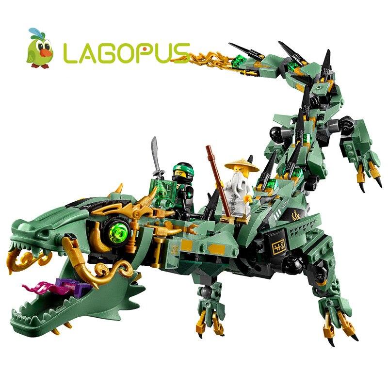 Lagopus 592pcs Movie Series Flying Mecha Dragon Building Blocks Bricks Toys Children Model Gifts Compatible Free