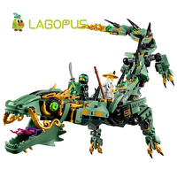 Lagopus 592pcs Movie Series Flying Mecha Dragon Building Blocks Bricks Toys Children Model Gifts Compatible Free
